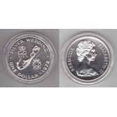 BERMUDA - SILVER PROOF 1$ COIN 1972 YEAR KM#22a SILVER WEDDING