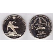 MONGOLIA - PROOF 100 TUGRIK COIN 2003 YEAR GERMANY FOOTBALL WORLD CUP