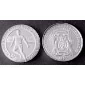ST THOMAS & PRINCE - SILVER 1000 DOBRAS PROOF COIN 1990 KM#47 FOOTBALL GERMANY