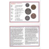 LUXEMBOURG - RARE 4 DIF BU COINS SET: 1 - 50 FRANCS 1995 YEAR + MEDAL MINT PACK