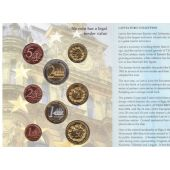 LATVIA - PROBE PATTERN ESSAI 8 DIF COINS SET 0.01 - 2 2004 YEAR SHIPS