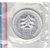 WEST AFRICAN STATES - 5000 FRANC SILVER COIN 1982 YEAR ESSAI SPECIMEN KM#E13