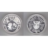 SOUTH AFRICA - SILVER PROOF 2 RAND COIN 2009 YEAR FIFA WORLD CUP MASCOT