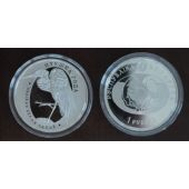 BELARUS – PROOF 1 RUBEL COIN 2008 GREAT WHITE EGRET