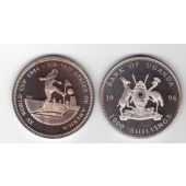 UGANDA - 1000 SHILLINGS PROOF COIN 1994 YEAR CORNER FOOTBALL WORLD CUP
