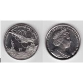 BRITISH VIRGIN ISLANDS - 1$ UNC COIN 2013 YEAR LAST CONCORD FLIGHT
