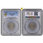 REUNION – RARE 50 CENTIMES UNC COIN 1896 YEAR KM#4 GRADING PCGS MS62