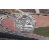 ITALY SILVER 500 LIRA UNC COIN 1992 YEAR KM#153 BARCELONA OLYMPIC GAME MINT PACK