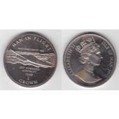 ISLE OF MAN RARE 1 CROWN UNC COIN 1995 YEAR KM#440.2 JET POWERED AIRCRAFT 1942