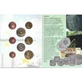 SURINAME RARE PROBE PATTERN ESSAI 8 UNC COINS SET 0.01 - 2 EURO 2005 YEAR SHIP