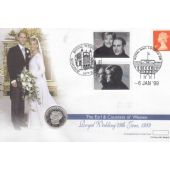 GUERNSEY - SILVER PROOF 1 POUND COIN 1999 YEAR KM#95 ROYAL WEDDING