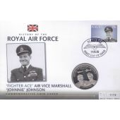 JERSEY - 5 POUNDS UNC COIN 2008 YEAR RAF FLYING ACES