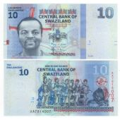 SWAZILAND - 10 EMALANGENI UNC BANKNOTE 2010 YEAR