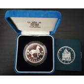 MACAO MACAU RARE SILVER PROOF 100 PATACAS COIN 2002 YEAR OF HORSE KM#107 COA BOX