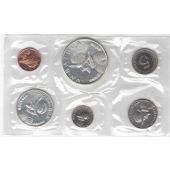 PANAMA - BANK MINT 6 DIF PROOF COINS SET 1 CENTISIMO - 1 BALBOA 1969 YEAR SILVER