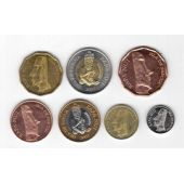 EASTER ISLAND – 7 DIF SET 1 - 500 PESOS 2007 YEAR BIMETAL ANIMALS