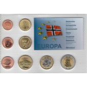 BJORNOYA NORWAY - PROBE PATTERN ESSAI 8 DIF SET 0.01 - 2 EURO 2013 YEAR