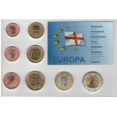 ENGLAND PROBE PATTERN ESSAI 8 DIF SET 0.01 - 2 EURO 2007 YEAR