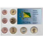 FRENCH GUYANA 8 DIF UNC SET 1 CENT - 2 EURO 2007 YEAR PATTERN ESSAI PROVA