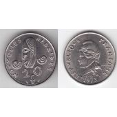 NEW HEBRIDES - RARE 20 FRANCS AU COIN 1973 YEAR KM#3.2