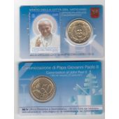 VATICAN - NEW ISSUE 50 CENTS UNC COIN + STAMP 2014 YEAR POPE GIOVANNI PAOLO II