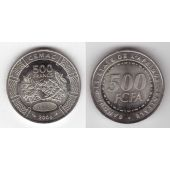 CENTRAL AFRICAN STATES – 500 FRANCS UNC COIN 2006 YEAR KM#22