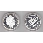 NEW ZEALAND - SILVER PROOF 1$ COIN 2006 Y KM#158 FIFA FOOTBALL WORLD CUP GERMANY