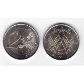 FRANCE - NEW ISSUE BIMETAL 2 EURO UNC COIN 2014 YEAR WORLD AIDS DAY
