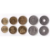 EGYPT - 5 DIF UNC COINS SET: 1 - 25 PIASTRES DIF YEARS