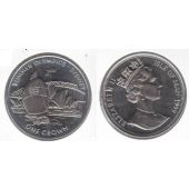 ISLE OF MAN 1 CROWN UNC Cu-Ni COIN 1999 YEAR KM#926 SYDNEY OLYMPIC GAMES SAILING