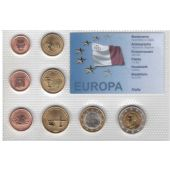MALTA PROBE PATTERN ESSAI 8 DIF SET 0.01 - 2 EURO 2006 YEAR SHIP