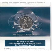 MARSHALL ISLANDS – 5$ UNC COIN 1995 YEAR KM#257 50th ANNI UNITED NATIONS