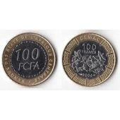 CENTRAL AFRICAN STATES – BIMETAL 100 FRANCS UNC COIN 2006 YEAR KM#21