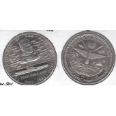 MARSHALL ISLANDS – 5$ UNC COIN 1992 YEAR KM#84 HEROES RAID ON TOKYO SHIP