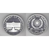 PARAGUAY - RARE 150 GUARANIES SILVER PROOF COIN 1975 YEAR KM#155 PARLIAMENT