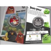 SIERRA LEONE COLORED 1$ UNC COIN 2018 YEAR ANGRY BIRDS MINT PACK