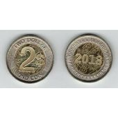 ZIMBABWE NEW ISSUE BIMETAL 2$ BOND UNC COIN 2018 YEAR
