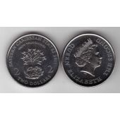 EAST CARIBBEAN STATES - 2$ UNC COIN 2011 YEAR GROW YOUR SAVINGS