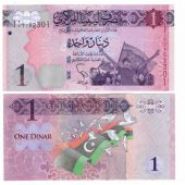 LIBYA - NEW ISSUE 1 DINAR UNC BANKNOTE 2013 YEAR