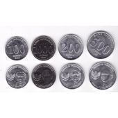 INDONESIA - NEW ISSUE 4 DIF COINS SET 100 - 1000 RUPIAH 2016 YEAR