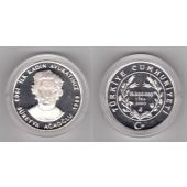 TURKEY – SILVER PROOF 15000000 15 MILLION LIRA COIN 2003 YEAR SUREYYA AGAOGLU