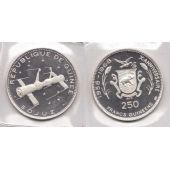 GUINEA – RARE SILVER PROOF 250 FRANCS COIN 1970 YEAR KM#21 SPACE SOYUZ
