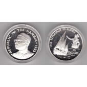 GAMBIA -SILVER PROOF 20 DALASIS COIN 1993 YEAR KM#34 SHIP PRINCE HENRY NAVIGATOR