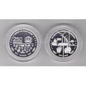 CAPE VERDE - SILVER PROOF 250 ESCUDOS COIN 2015 YEAR 40th INDEPENDENCE + BOX+COA