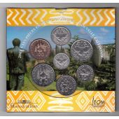 NEW CALEDONIA - BANK ISSUE 7 DIF COINS SET 1 - 100 FRANCS 2001 YEAR MINT FOLDER