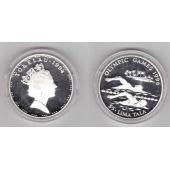 TOKELAU – SILVER PROOF 5 TALA COIN 1994 YEAR OLYMPIC ATLANTA KM#19 SWIMMING