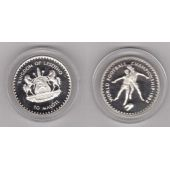 LESOTHO – RARE SILVER PROOF 10 MALOTI COIN 1982 YEAR KM#34 SPAIN FIFA WORLD CUP