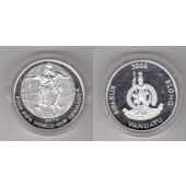 VANUATU – SILVER PROOF 50 VATU COIN 2006 YEAR GERMANY FOOTBALL WORLD CUP