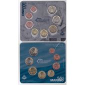 SAN MARINO - 8 DIF UNC COINS SET: 1 CENT - 2 EURO 2012 YEAR BANK MINT PACK